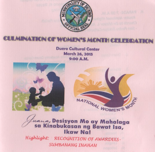 Duero Women's Month Celebration 2015